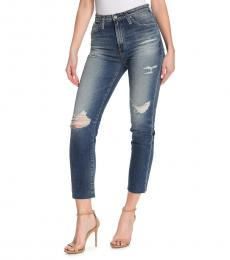 AG Adriano Goldschmied Denim Phoebe High Rise Straight Jeans