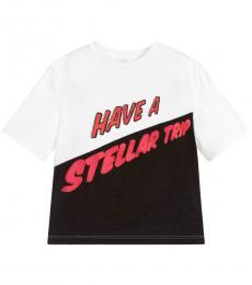 Stella McCartney Little Girls White & Black T-Shirt