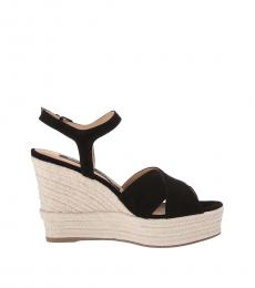 Sergio Rossi Black Suede Wedges