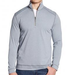 Tommy Bahama Grey-Ferrara Flip Half Zip Pullover