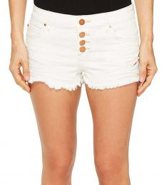 White Buttoned Up Shorts