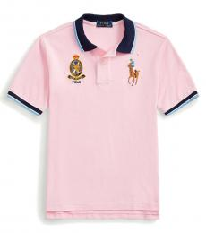 Ralph Lauren Boys Carmel Pink Big Pony Crest Polo