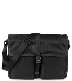 Cole Haan Black Zerogrand Field Large Messenger Bag