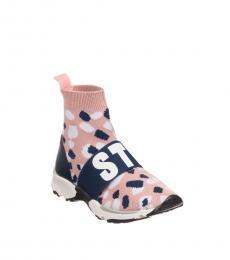 Stella McCartney Girls Pink Sock Sneakers