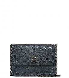 Coach Charcoal Bowery Small Crossbody