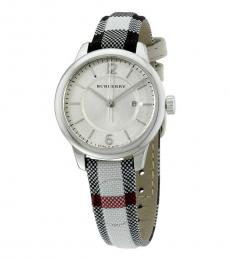 Burberry Multi-Silver Classic Round Watch