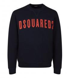 Dsquared2 Navy Blue Logo Graphic Sweatshirt