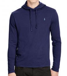 Ralph Lauren Navy Jersey Hooded T-Shirt