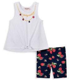 Juicy Couture 2 Piece Top/Shorts Set (Little Girls)