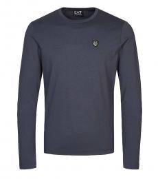 Emporio Armani Grey Logo Long Sleeve T-Shirt