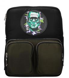 Prada Black/Green Frankenstein Medium Backpack