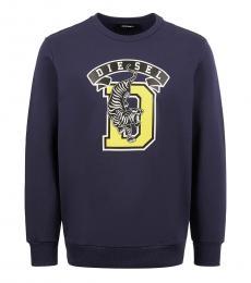 Diesel Dark Blue Front Logo Sweatshirt