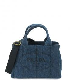 Prada Denim Giardiniera Small Satchel