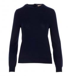 Tory Burch Blue Cashmere Sweater