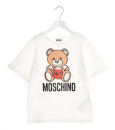 Moschino Little Girls White Teddy Toy T-Shirt