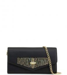 Love Moschino Black Turnlock Clutch