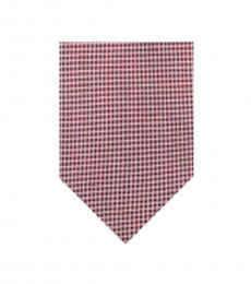 Calvin Klein Red Micro Square Slim Tie