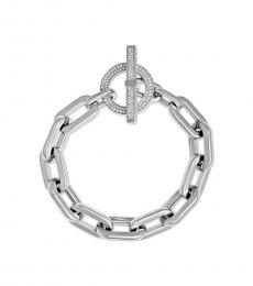 Michael Kors Silver Dazzling Cityscape Chains Bracelet