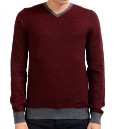 Cherry V-Neck Sweater