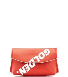 Red Logo Flap Clutch