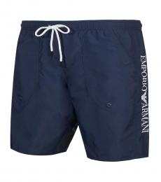 Dark Blue Logo Swimming Trunk
