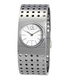 Silver Grid Modish Watch