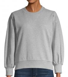 Rebecca Minkoff Heather Grey Balloon-Sleeve Sweatshirt
