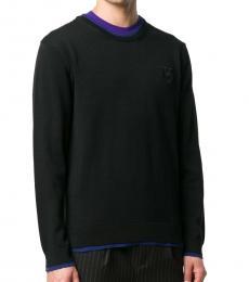 Kenzo Black Contrast-Trim Sweater