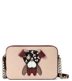 Kate Spade Pink Cherrywood Floral Pup Small Crossbody