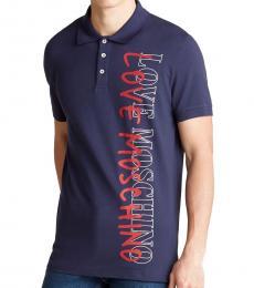 Blue Vertical Logo Polo