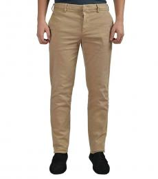Beige Khaki Casual Pants