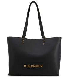 Love Moschino Black Solid Large Tote