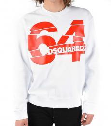 Dsquared2 White Round Necked Sweatshirt