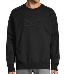 Black Logo Embroidery Sweatshirt