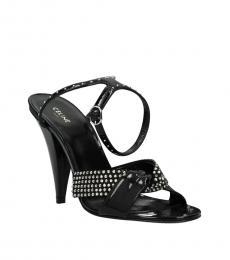 Celine Black Rhinestone Studded Heels