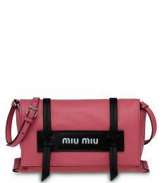 Pink Logo Medium Crossbody