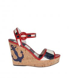 Dolce & Gabbana Multicolor Striped Wedges
