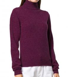 Dsquared2 Purple Highneck Sweater