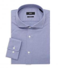 Hugo Boss Blue Mark Dotted Dress Shirt