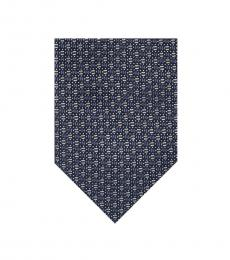 Ted Baker Navy Micro Textured Pattern Silk Tie