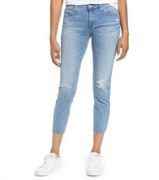 AG Adriano Goldschmied Light Blue Prima Crop Skinny Jeans