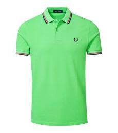 Fred Perry Neon Green Logo Patch Polo