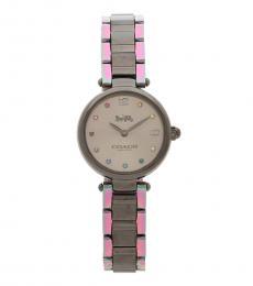 Coach Silver-Grey Tow Tone Watch