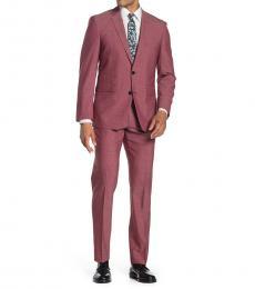 Vince Camuto Rust Notch Lapel Slim Fit Suit