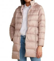 Lucky Brand Light Pink Hooded Packable Jacket