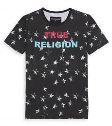 True Religion Little Boys Black Shadow Star Logo T-Shirt