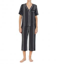 DKNY Black Print 2-Piece Sleep Set