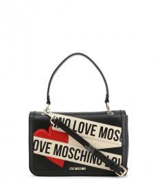 Love Moschino Black Logo Tape Small Satchel
