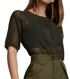 Dsquared2 Black Vest Intarsia Net Sweater
