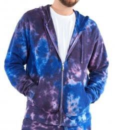 True Religion Purple Tie Dye Zip Hoodie